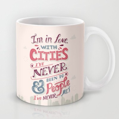 Astrode Paper Towns Cities And People Ceramic Mug
