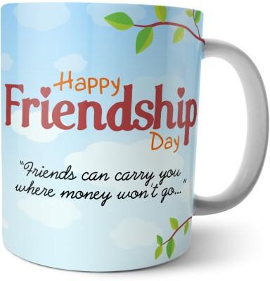 Chiraiyaa Happy Friendship Day - Friends can carry you - three owl friends Ceramic Mug