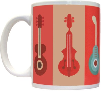 Pinqart Vector Design Music Ceramic Mug