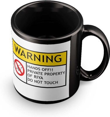 posterchacha Riya Do Not Touch Warning Ceramic Mug