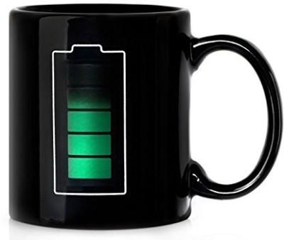 Shrih Color Changing Battery Coffee Milk Ceramic Mug