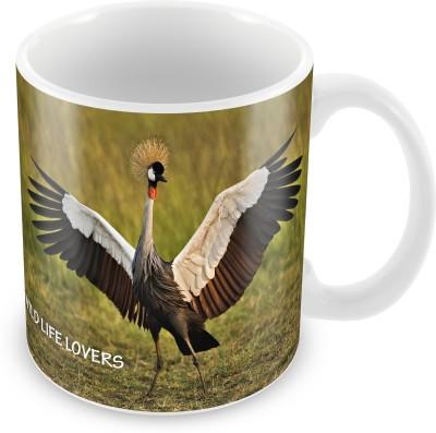 Prinzox Mesmerizing Saras Crane Ceramic Mug