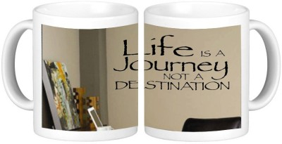 Shopmillions Life is a Journey Ceramic Mug