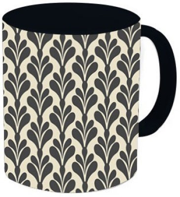 Rawkart Black beige print Ceramic Mug