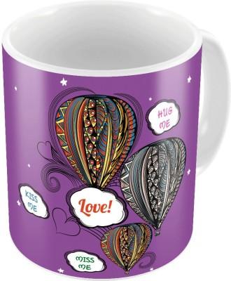 Indiangiftemporium Purple Color Romantic Printed Coffee  718 Ceramic Mug