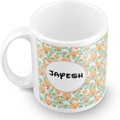 posterchacha Jayesh Floral Design Name  Ceramic Mug