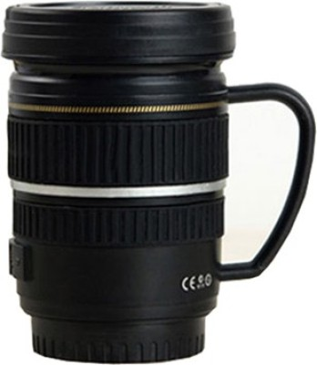 exciting Lives Caniam Camera Lens  With Handle Plastic, Stainless Steel Mug