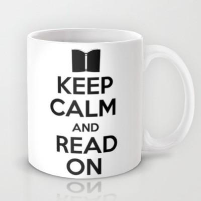 Astrode Keep Calm And Read On Ceramic Mug