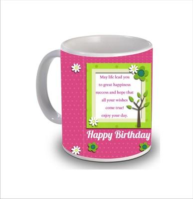 Print Hello Happy Birthday Cake b256 Ceramic Mug