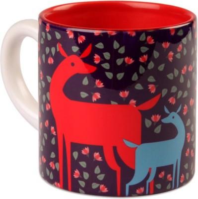 Studio Pandora Purple Deer Tea Ceramic Mug