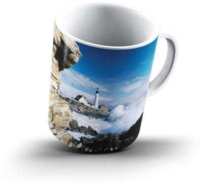 Ucard Portland Head Lighthouse Maine2610 Bone China, Ceramic, Porcelain Mug