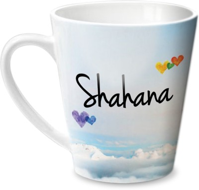 Hot Muggs Simply Love You Shahana Conical  Ceramic Mug