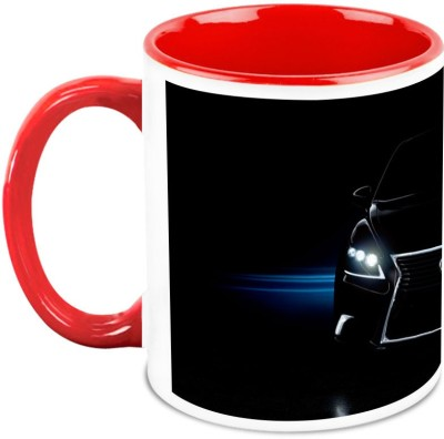 HomeSoGood Car With Glowing Headlights Ceramic Mug