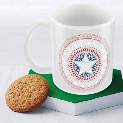 Marvel Captain America logo Officially Licensed Ceramic Mug