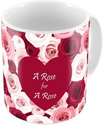 Indiangiftemporium Red Designer Romantic Printed Coffee  730 Ceramic Mug