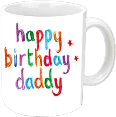 Jiya Creation1 Happy B,day DADDY White  Ceramic Mug