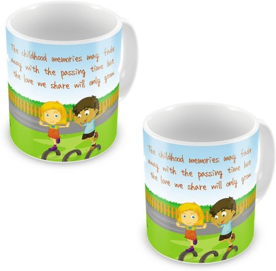 Home India Brother n Sister Playing Designer Coffee  Pair 532 Ceramic Mug