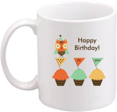 ONLY OWL Gift Happy Birthday OWL669 Magic Ceramic Mug
