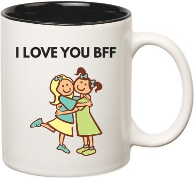 Huppme Best Friend Forever Inner Black  Ceramic Mug