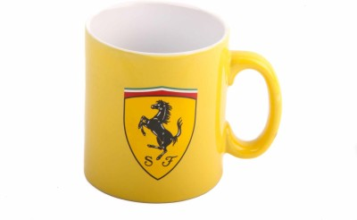 Ferrari Scudetto INS Yellow Ceramic Mug