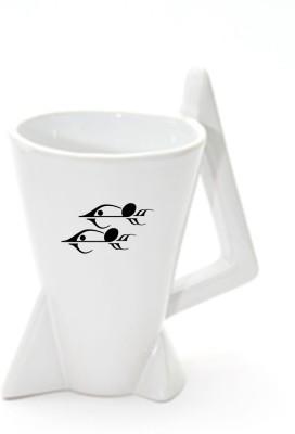 Thin N Fat Pisces Rocket Ceramic Mug