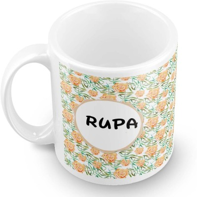posterchacha Rupa Floral Design Name  Ceramic Mug