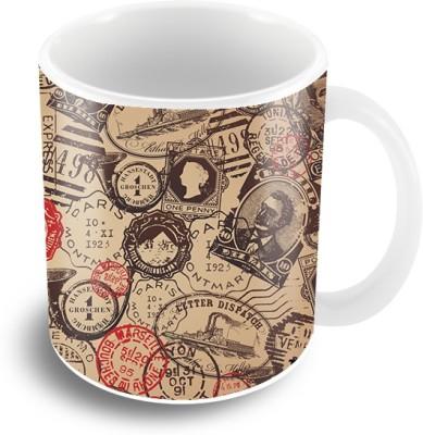 Thecrazyme Stamps Coffee Ceramic Mug