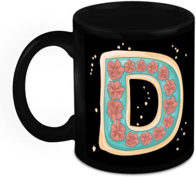 HomeSoGood One Of A Kind Alphabet D Ceramic Mug