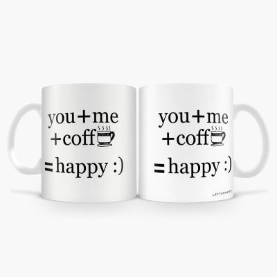 LetterNote You Me Combo Ceramic Mug