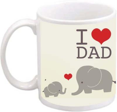 Zeerangi A93 I Love Dad Ceramic Mug