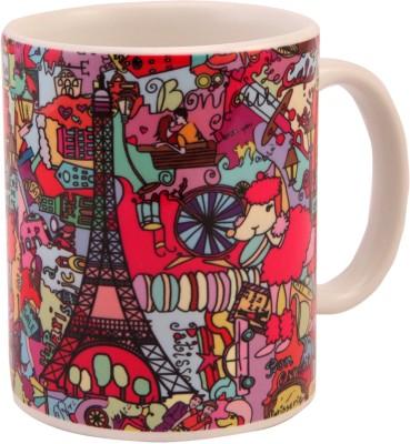 The Purple Sack Paris Ceramic Mug