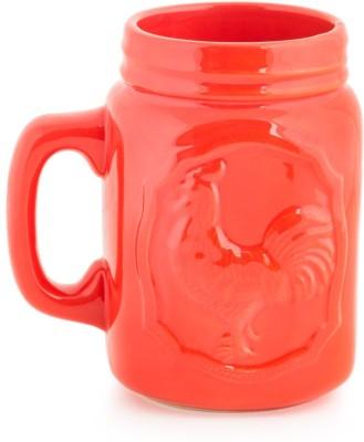 Chumbak Rocking Rooster- Red Ceramic Mug(600 ml) at flipkart