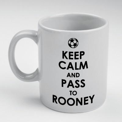 Prokyde Prokyde Keep Calm & Pass to Ronney  Ceramic Mug