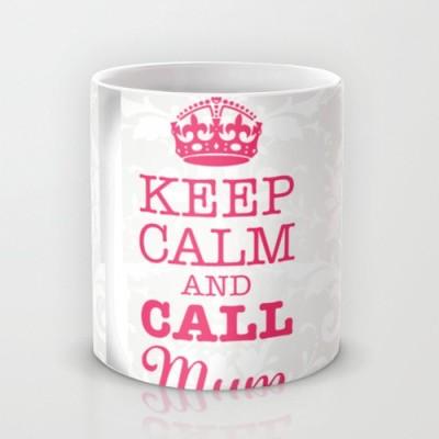 Astrode Keep Calm And Call Mum Ceramic Mug
