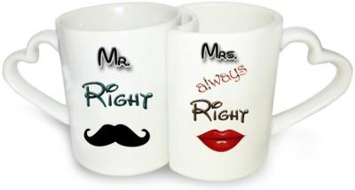 Ucard Right Always Right Couple Set Bone China, Ceramic, Porcelain Mug