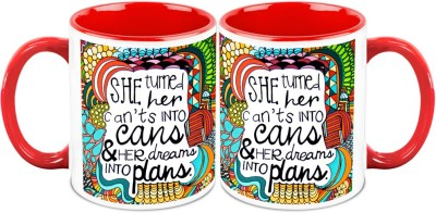 HomeSoGood Turn Your Can,t To Can Office Quote Ceramic Mug
