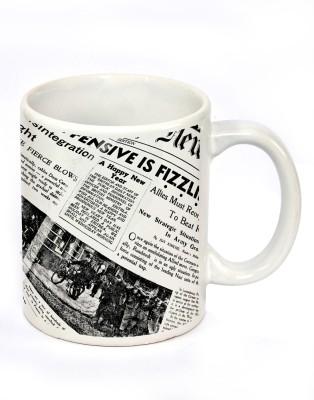Fashion Envoy White Newspaper -Expensive is fizzling engraved Ceramic Mug