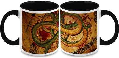 HomeSoGood Angry Dragon (Qty 2) Ceramic Mug