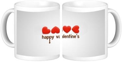 Shopmillions Happy Valentine Ceramic Mug