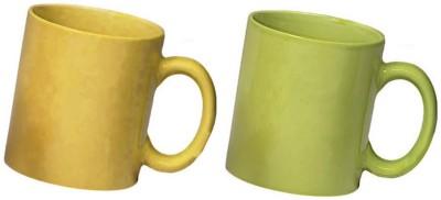 Snapgalaxy Yellow and Green Combo Pack 2pcs Ceramic Mug