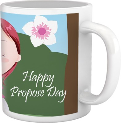 Tiedribbons Happy Propose Day with Love Coffee Ceramic Mug