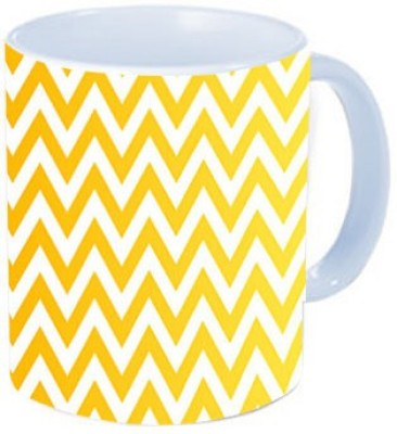 Rawkart Chevron yellow pattern Ceramic Mug
