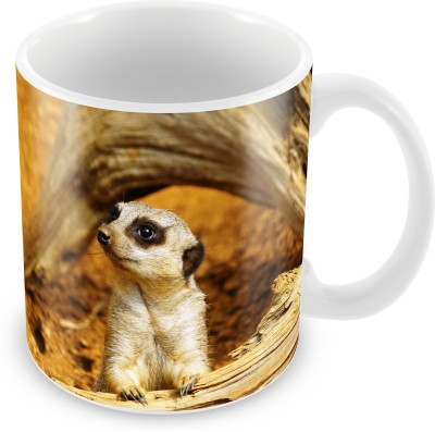 Prinzox Wildlife Lovers Cute Meerkat Ceramic Mug