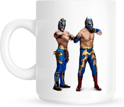 Huppme Gifts Lucha Dragon White  Ceramic Mug