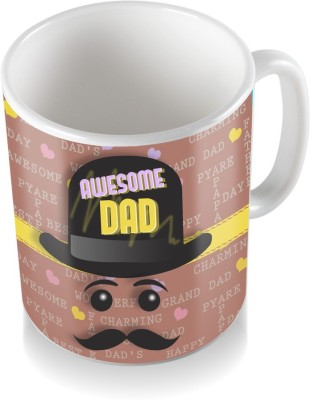 SKY TRENDS GIFT Awesome Dad With Cap Gifts For Dad Father,s Day Coffee  Ceramic Mug