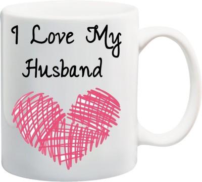 Awwsme Heart Sketch Luv My Husband Ceramic Mug