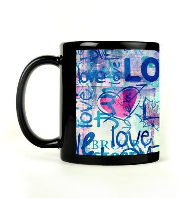 AURRA PRINTED BLACK-542 Ceramic Mug