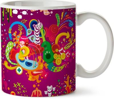 Pentagraphics Abstract Art Ceramic Mug