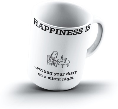 Ucard Happiness Is1067 Bone China, Ceramic, Porcelain Mug