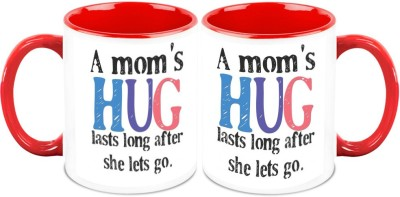 HomeSoGood Love You My Mother ( Set of 2) Ceramic Mug